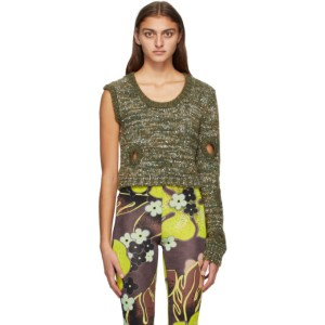 Louise Lyngh Bjerregaard SSENSE Exclusive Green Almost Done Sweater