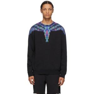 Marcelo Burlon County of Milan Black and Multicolor Chalk Wings Sweatshirt