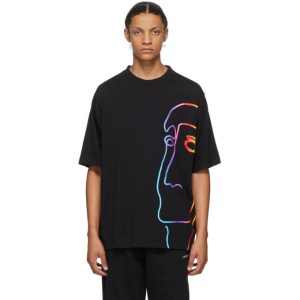 Marcelo Burlon County of Milan Black One Face T-Shirt