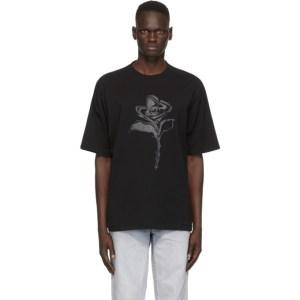 Marcelo Burlon County of Milan Black Psychedelic Flower T-Shirt