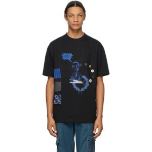 Georges Wendell SSENSE Exclusive Black Buttons T-Shirt