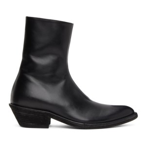 Haider Ackermann Black Evening Chelsea Boots