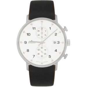 Junghans White and Black Form C Quartz Watch