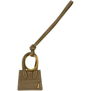 Jacquemus Khaki and Gold Le Porte Cles Chiquito Keychain