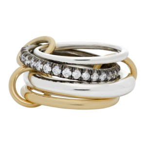 Spinelli Kilcollin Silver and Gold Janssen Four-Link Ring