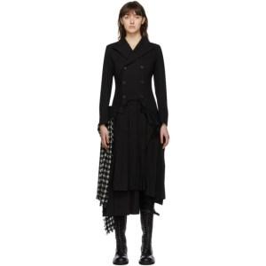 Yohji Yamamoto Black 9 Front Pleats Coat
