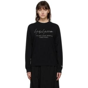 Yohji Yamamoto Black Logo Long Sleeve T-Shirt
