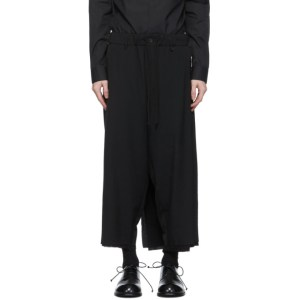 Yohji Yamamoto Black Wrap Layered Trousers
