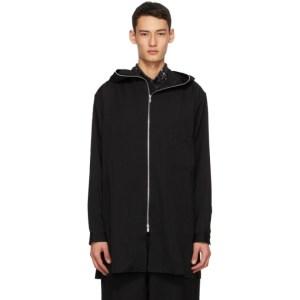 Yohji Yamamoto Black Zipper Hoodie