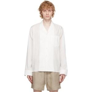 COMMAS White Camp Collar Shirt