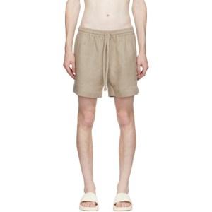 COMMAS Beige Linen Shorts