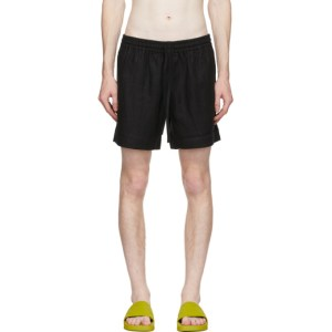 COMMAS Black Linen Shorts
