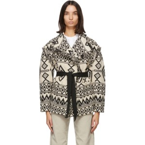 Isabel Marant Etoile Off-White and Black Josiali Jacket