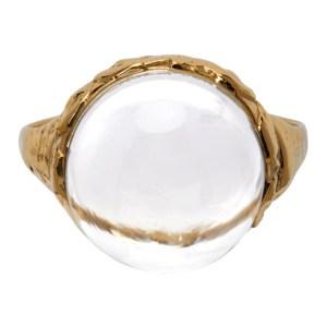 Jiye Shin Gold Quartz Sister Ring