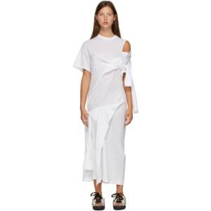 Toga White Drape T-Shirt Dress