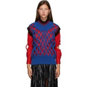 Toga Blue Mesh Knit Vest