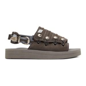 Toga Grey Suicoke Edition Suede MURA AJ502 Sandals