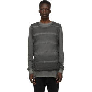 11 by Boris Bidjan Saberi Grey Panelled Vest