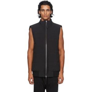 11 by Boris Bidjan Saberi Black Zip-Up Vest