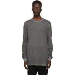 11 by Boris Bidjan Saberi Grey Dye Long Sleeve T-Shirt