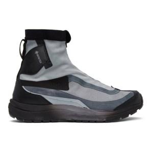 11 by Boris Bidjan Saberi Grey and Black Salomon Edition Bamba 2 High GTX High-Top Sneakers