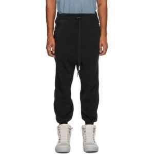 Boris Bidjan Saberi Black Coated Lounge Pants