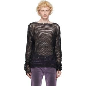 Johnlawrencesullivan Black Cut-Off Long Sleeve T-Shirt