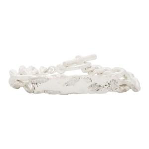 Pearls Before Swine Silver Id Tag Bracelet