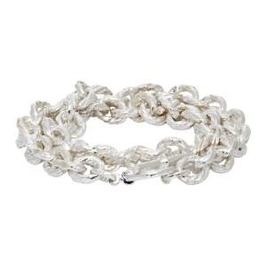 Pearls Before Swine Silver Rope Chain Bracelet