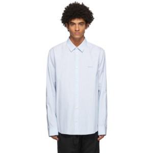 OAMC Blue Micro Striped Shirt