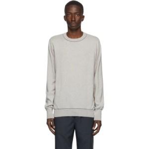 OAMC Grey Wool Outline Crewneck Sweater