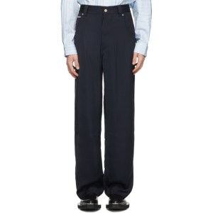 Eytys Navy Satin Titan Trousers