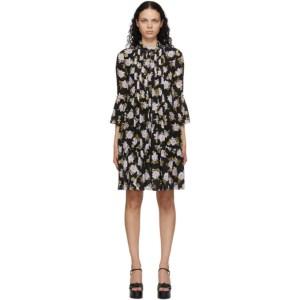 Erdem Black Silk Winford Dress