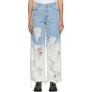 SJYP Blue Washed Jeans