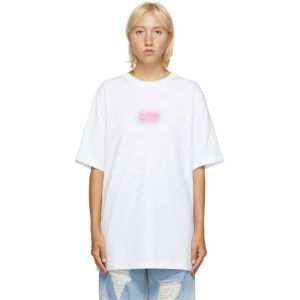 SJYP White Logo T-Shirt