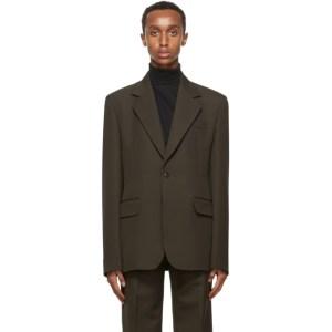 Lemaire Brown Wool Slim Blazer