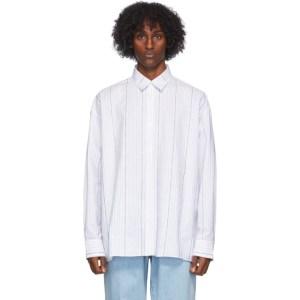 Etudes White Illusion Striped Shirt