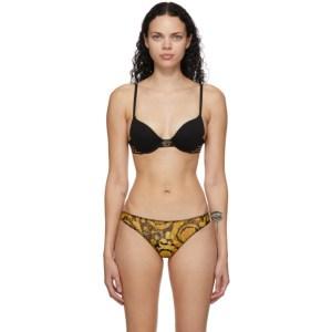 Versace Underwear Black Medusa Push-Up Bra