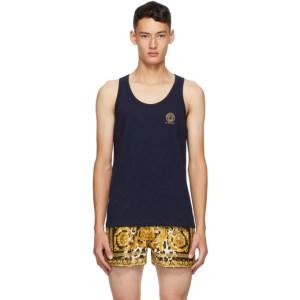 Versace Underwear Navy Medusa Tank Top