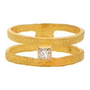 ELHANATI Gold VVS Diamond Roxy Graphic Ring