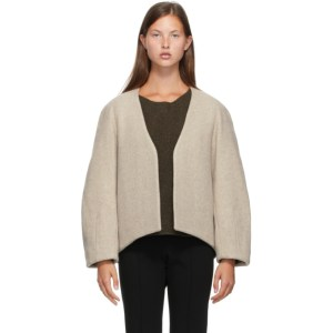 LOW CLASSIC Beige Classic No Button Jacket