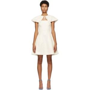 Edit Off-White Capelet Short Dress