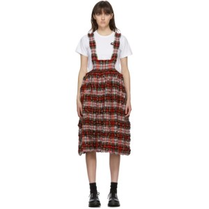 Comme des Garcons Girl Red Tartan Apron Dress