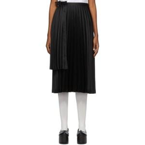 Noir Kei Ninomiya Black Pleated Layer Panel Skirt