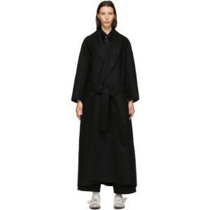 Toogood Black Wool The Author Coat
