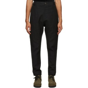 Toogood Black Virgin Wool Metalworker Trousers