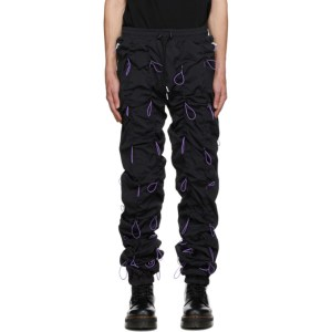 99% IS Black and Purple Gobchang Lounge Pants