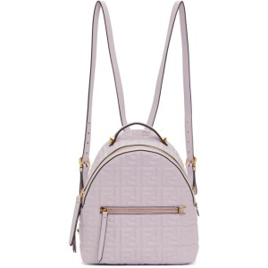 Fendi Purple Mini Fendi Forever Backpack