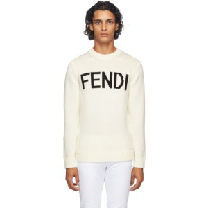 Fendi Off-White Wool Logo Sweater