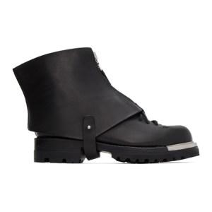 Feit SSENSE Exclusive Black Gator Metal Hiker Boots